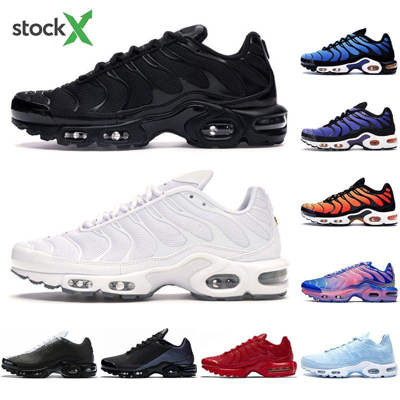 С носки TN Plus кроссовки Мужчины Женщины пережитка будущее тройной черный белый Hyper синий Частота обновления Pimento Спортивный Спорт Sneaker