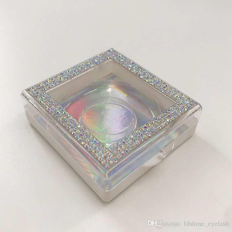 25mm 3D 27mm 3D Mink Cils Personnalisé Emballage Personnalisé Vide Glitter Strass Box Chaud Selling Naturel 5D Mink faux cils