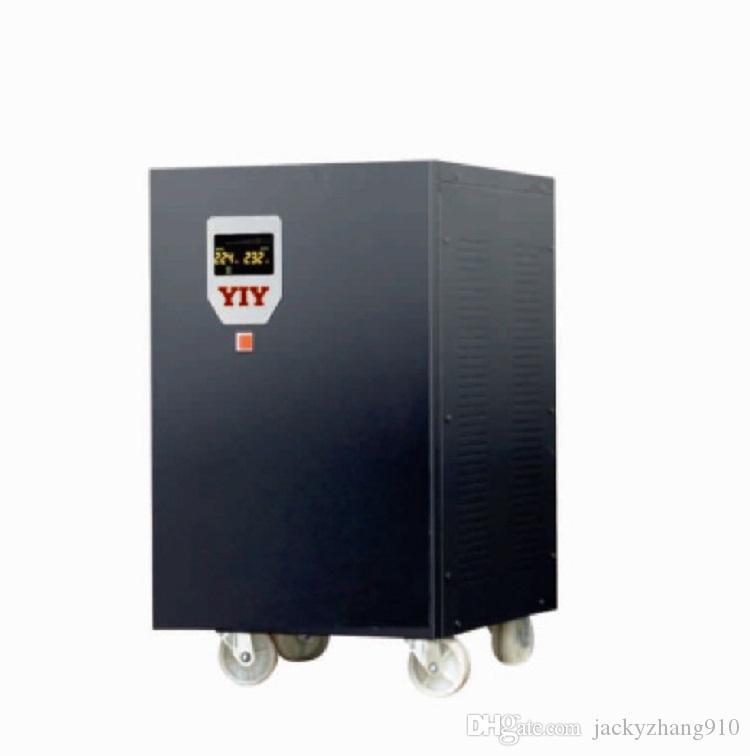 PRO-10KVA VERTICAL AC automatic voltage regulator stabilizer wide input voltage range/split phase/colorful display/wood box/latest version