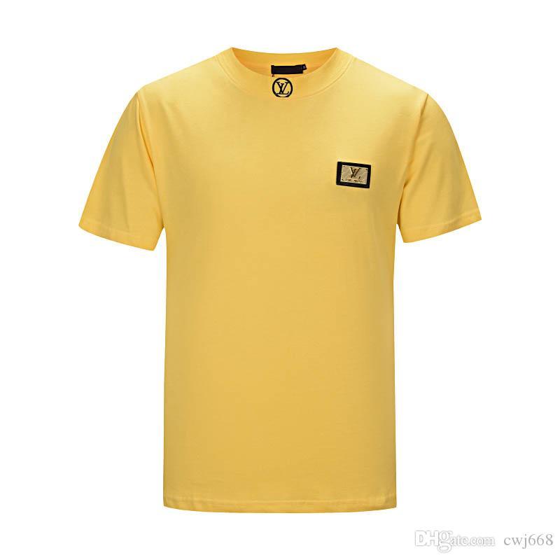 2018 лето дизайн футболки мужская рубашка тигр голова письмо Вышивка футболка мужская марка с коротким рукавом женская рубашка S-2XL