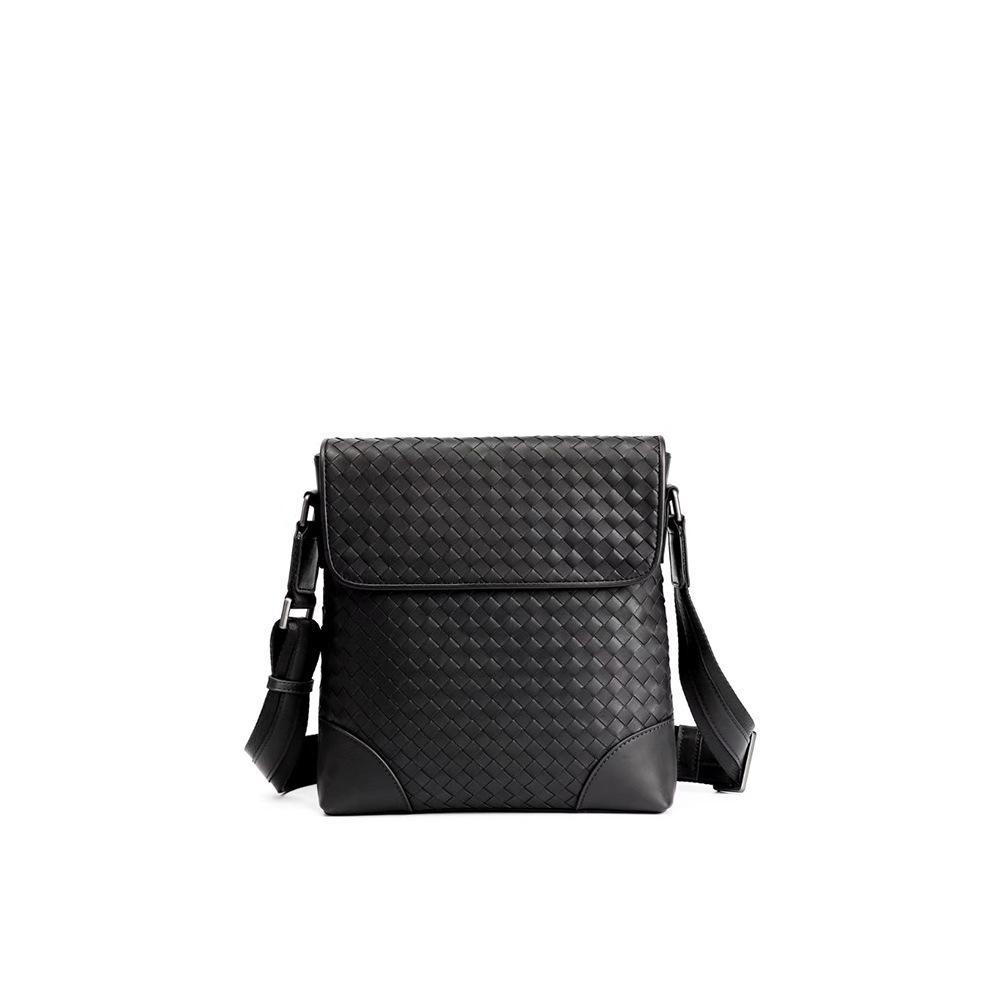 Elegant2019 echtes Mann-Leder-Paket-manuelles Webart-Wachs-Fötus-Rindleder wird Kapazität einzelne Schulter-Schultasche erneuern
