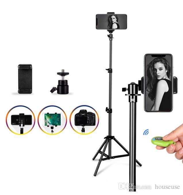 블루투스 원격 제어 셀카 섬광 사진을 가진 전화를 위한 보편적인 휴대용 알루미늄 삼각 대 산 디지탈 카메라 삼각