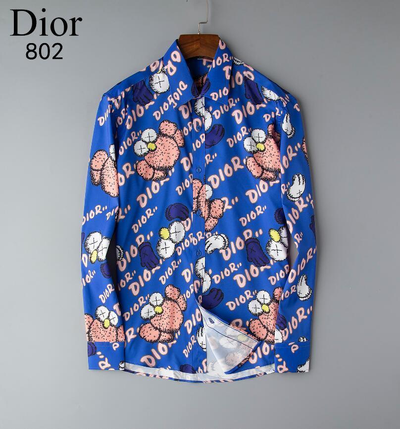 Clásico Moda NIGRITY primavera 20 hombres cómodo ocasional de la camisa de manga larga del hombre de negocios camisa más el tamaño formal S-3XL # 0745 Tamaño