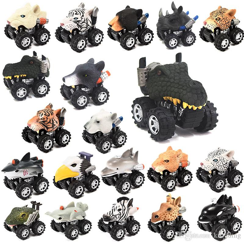 23 Styles Animals shaped pull-back vehicles 5x6x7cm kids pull back cartoon cars toys bears dinosaurs ocean animals plastic wind up car toys
