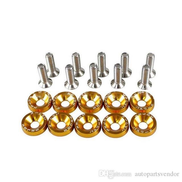 10PCS Universal de modificación Pegatinas del pegatina contraseña Fender Lavadora Placa de pernos de automoción coche