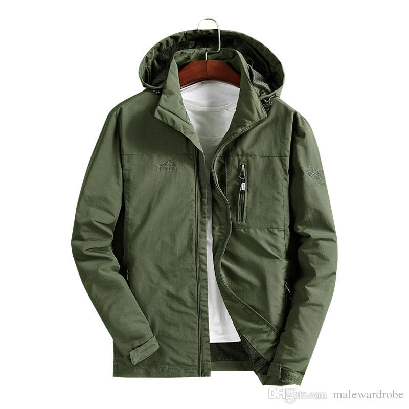 Water Proof Coat Men Autumn Jacket Quick-drying Windproof Jacket Casual Coat Windbreaker Loose Mens Jackets and Coats M 4XL