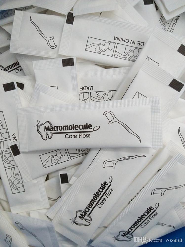 Floss Picks Unflavored Dental Floss Picks descartável Flossers Floss com palito e com embalagem individual por Vosaidi