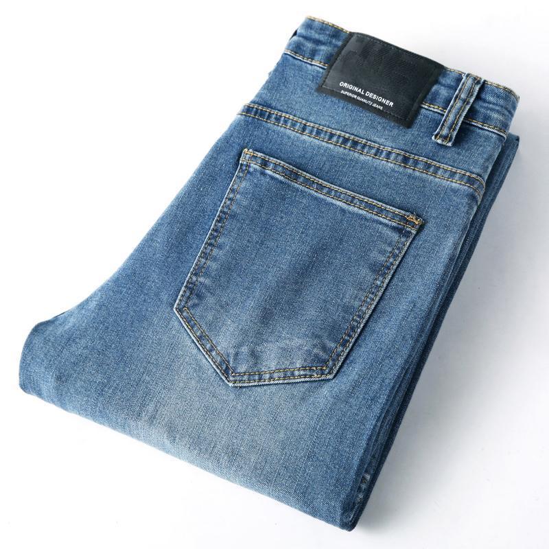 2020 Men Spring Autumn Jeans Denim Mens Jeans Slim Fit Plus Size To 40 Big and Tall Men Pants 28-38 Dress