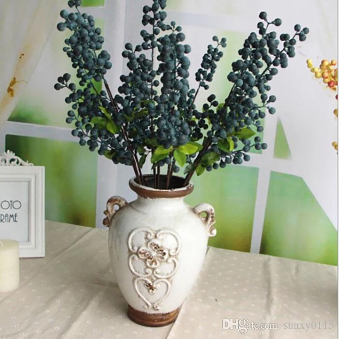 INS yapay çiçek dut meyve sulu bacca salon ev dekorasyon parti düğün süslemeleri çiçekler Noel Kırmızı Meyveler