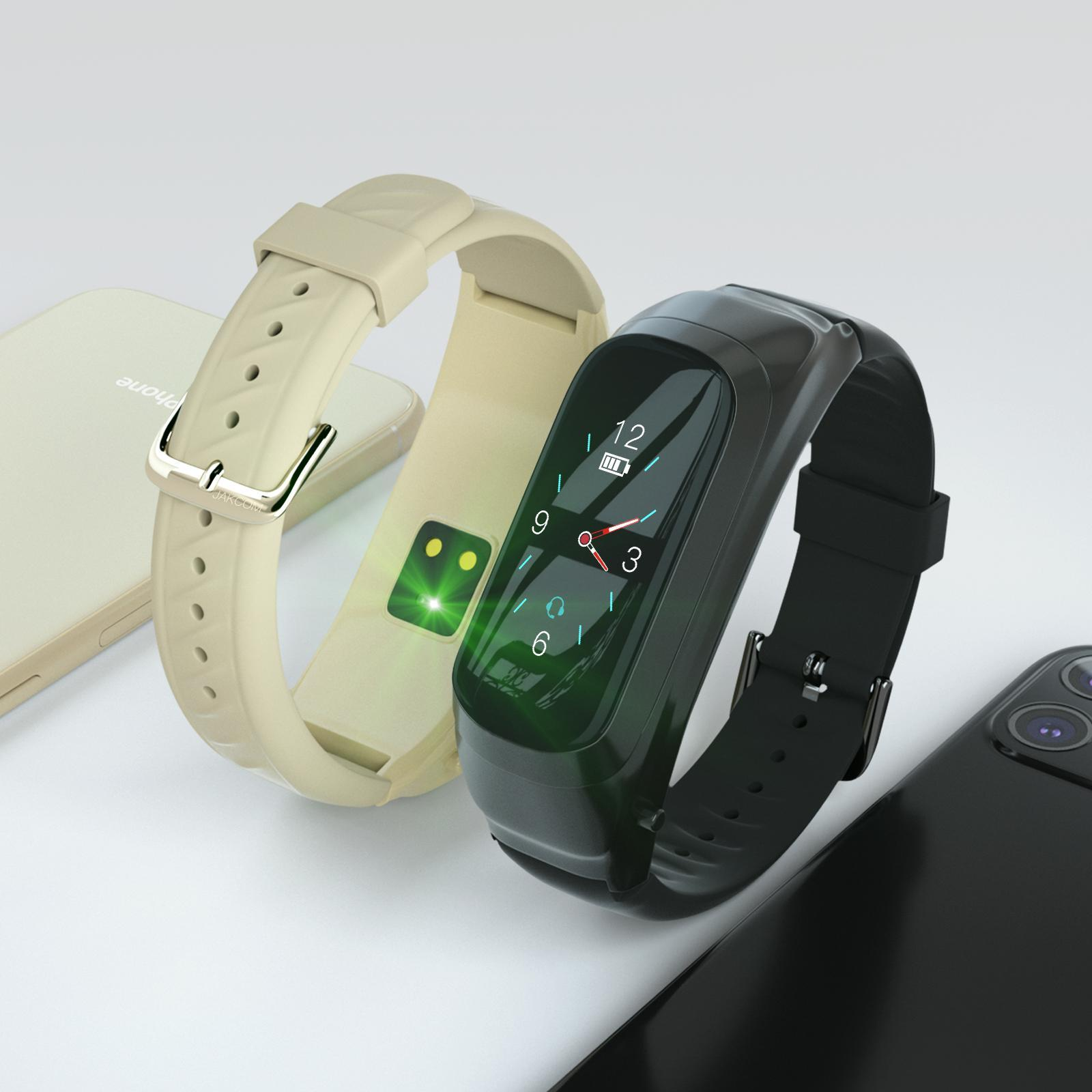 JAKCOM B6 الذكية الدعوة ووتش منتج جديد من سوار الذكية مع ساعة سماعة الذكية مع رصد معدل ضربات القلب