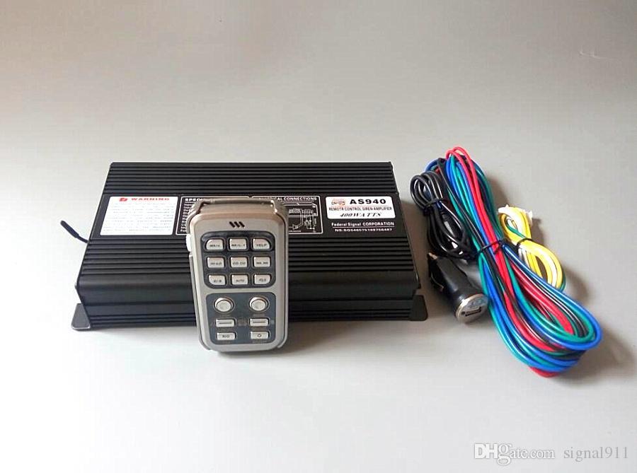 AS940 400W無線カー警察サイレンアラーム警告増幅器、マイクロフォン機能(スピーカーなし)