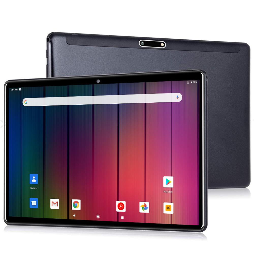 Android 9.0 OS Tablet PC 32GB ROM 1280*800 IPS 2.5D Glass 3G WCDMA Phone WiFi Bluetooth AGPS Tablets 10.1+64G TF Card as Gifts