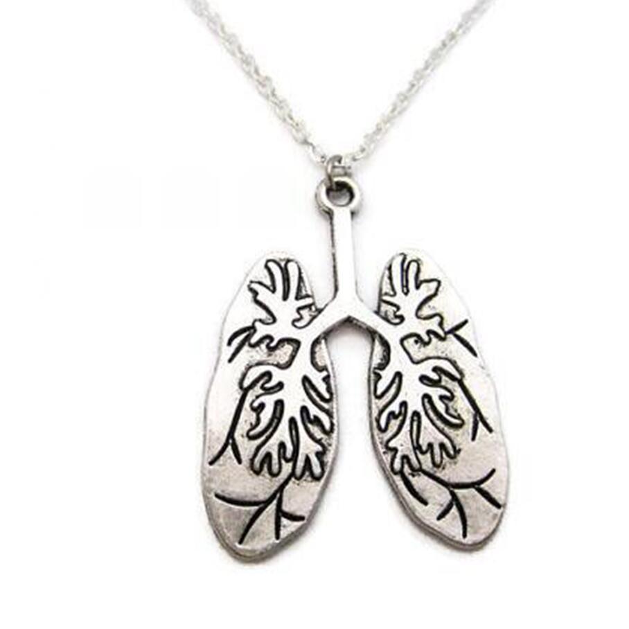 Avrupa ve Amerikan yaratıcı doktor hemşire kolye insan anatomisi kalp ve akciğer kolye kolye Takı iyi bir arkadaş klavikula zinciri toraks