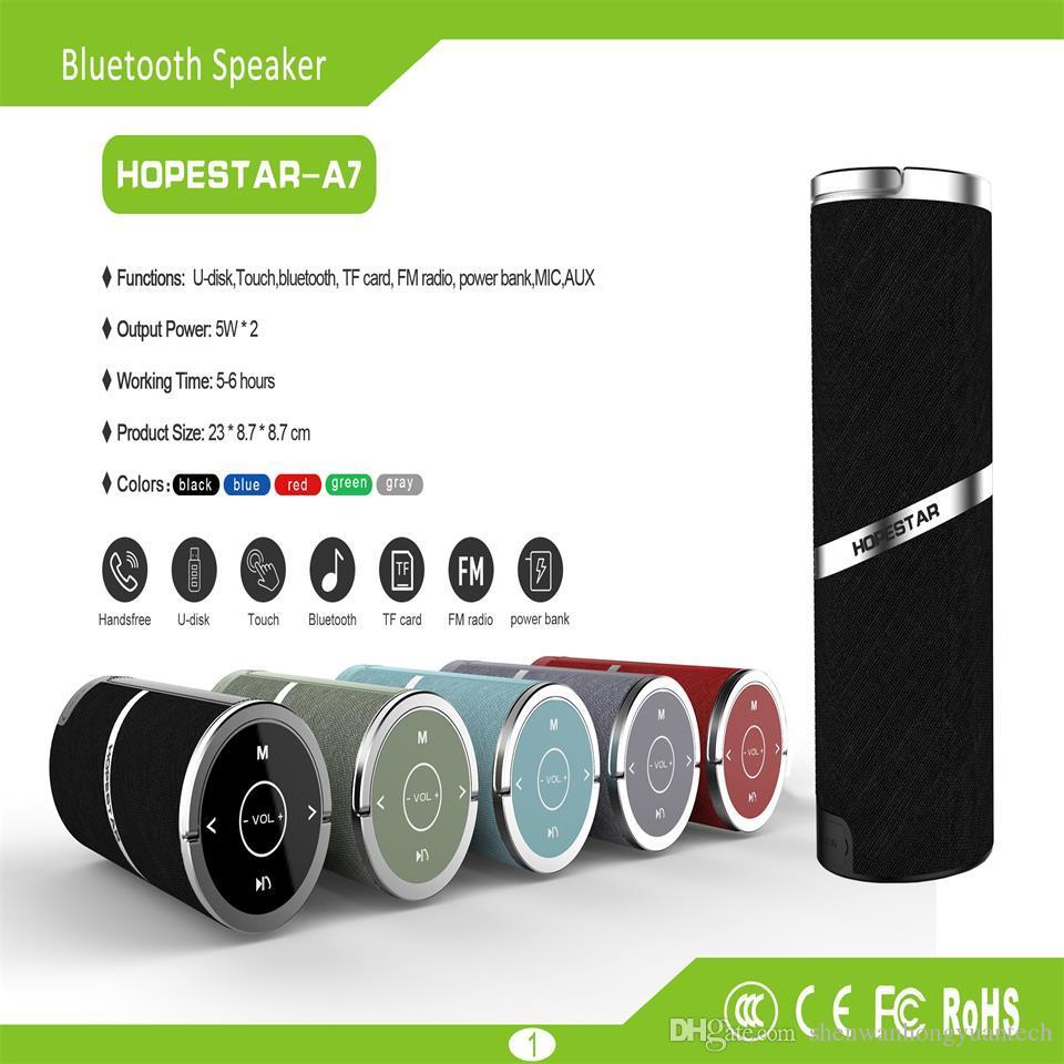 HOPESTAR-A7 vendite dirette della fabbrica Altoparlante Bluetooth Altoparlante portatile Bluetooth esterno impermeabile audio wireless portatile portatile touch TWS