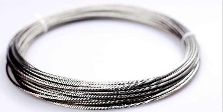 3-10mm 10--100M, 7X7 ou 7x19 304 aço inoxidável corda fio de pesca mais suave varal cabo