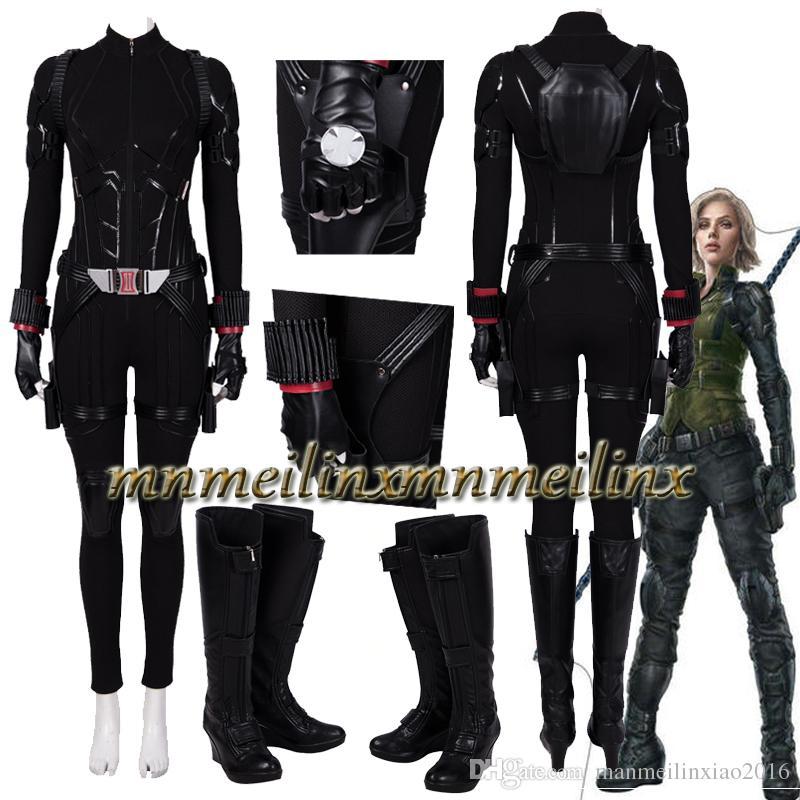 Avenger 4 Endgame Black Widow Cosplay Costume Jumpsuit Halloween Suit Innovatis Suisse Ch