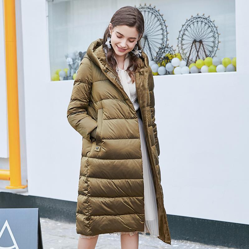Beyaz Mujeres Ceket Sıcak Parkas Coat Kadın Kış Kadın Ceket Aşağı Aşağı Kapüşonlu Ördek Kadın Mont 2020 Uzun Abrigos PPH1230 MJXAB