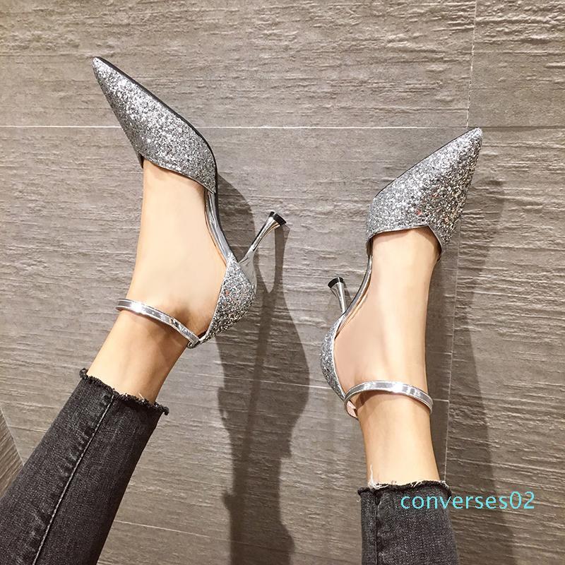 Donna Tacchi alti Vestito casual 7,5 centimetri festa di nozze di lusso color nudo alti talloni sottili Designer High Heel Sandals Capricorn1978 CO02