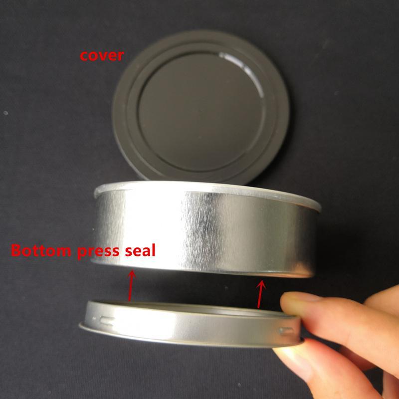 Newest Pressitin cans Moonrock and pressitin 73.3*24mm Cali pressitin tuna Tin Candry HerbTin Clear Peel Off Lid black Cover