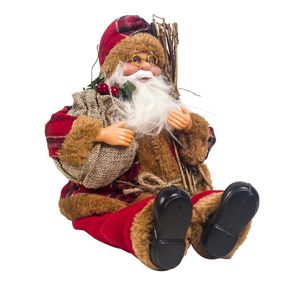 Babbo Natale Dolls Christmas Ornaments Buon Natale decorazioni favore di partito per il regalo a casa Capodanno giocattoli per bambini