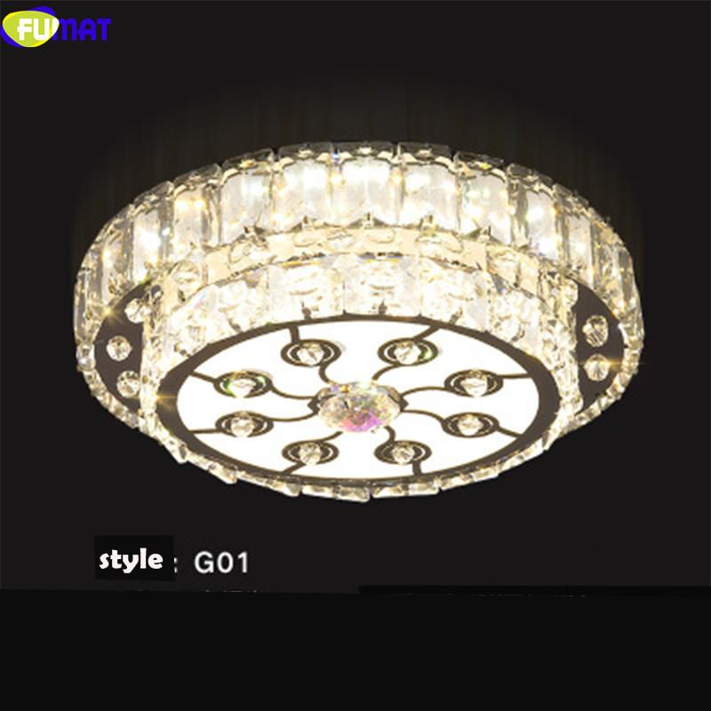 FUMAT Modern K9 Crystal Ceiling Lamps Stainless Steel LED Lights Acrylic Fixture Lighting And Pendants For Dining Kitchen Room