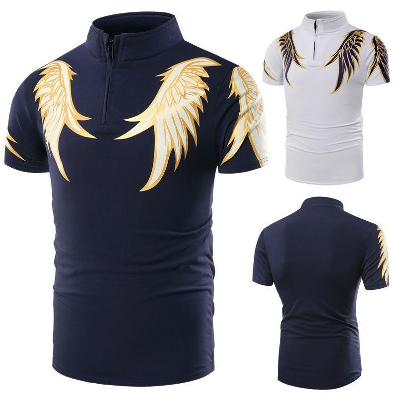 Vendita caldi 2018 estate Loaded Moda Ala casuale degli uomini corta Polo manica Camicie manica corta T-shirt