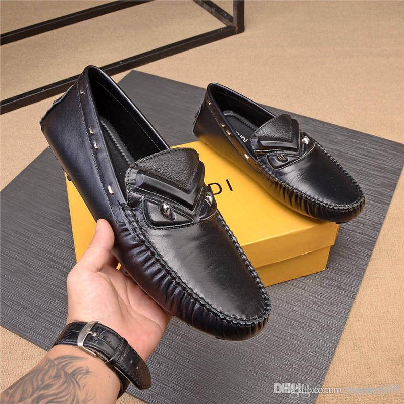 FDbrands A3 10 Mens di stile scarpe Biglietto dressl di pelle di alta qualità degli uomini delle scarpe da tennis le scarpe di lusso degli uomini di moda modello di soletta pelle di pecora