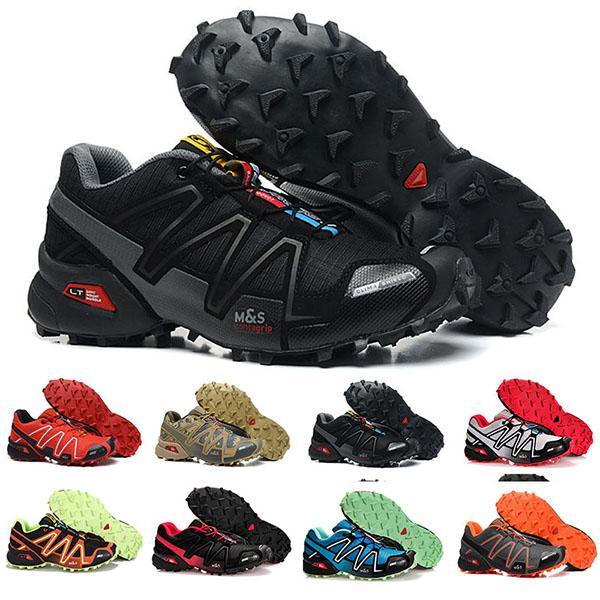 salomon speedcross 3 Nueva Zapatillas Speedcross 3 de los zapatos corrientes de los hombres zapatos para caminar Ourdoor deporte zapatos deportivos zapatos de senderismo Tamaño del