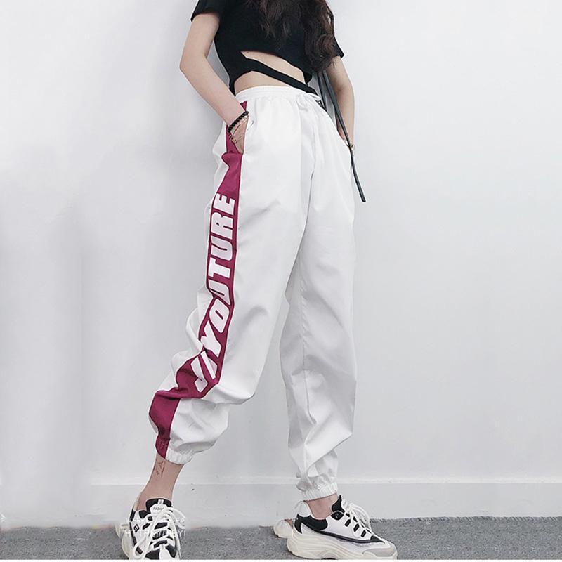 2019 хип-хоп гарем брюки женщина письмо печатные свободные брюки женская Высокая Талия уличная брюки весна Harajuku брюки женщины SH190816