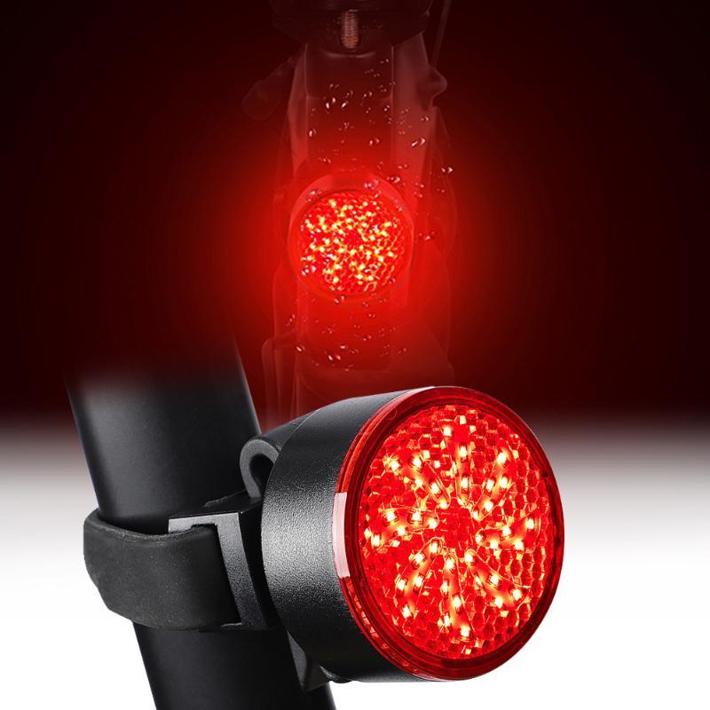 Bicycle Taillight Lamp Usb Charging Mountain Bike Riding Equipment Accessories Warning Light Upgrade Cob Lamp Beads Red And Blue