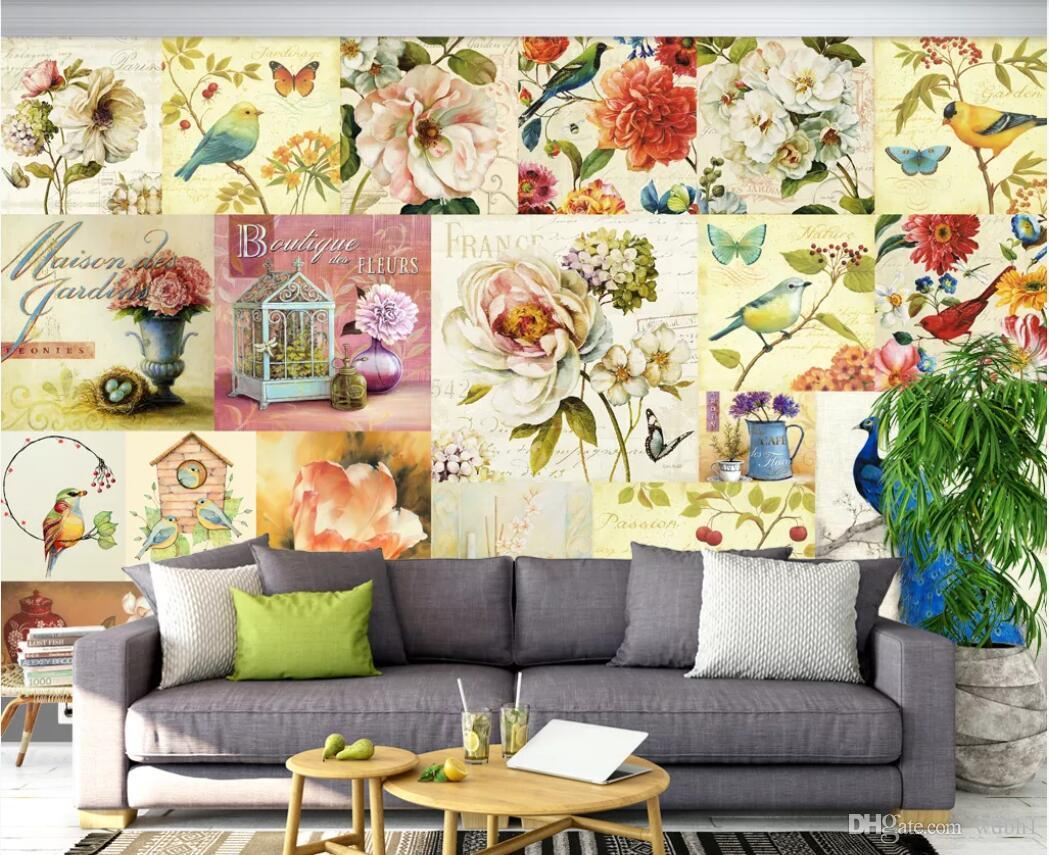 3d room wallpaper custom photo mural European and American style retro rose oil painting TV background wall wallpaper for walls 3 d