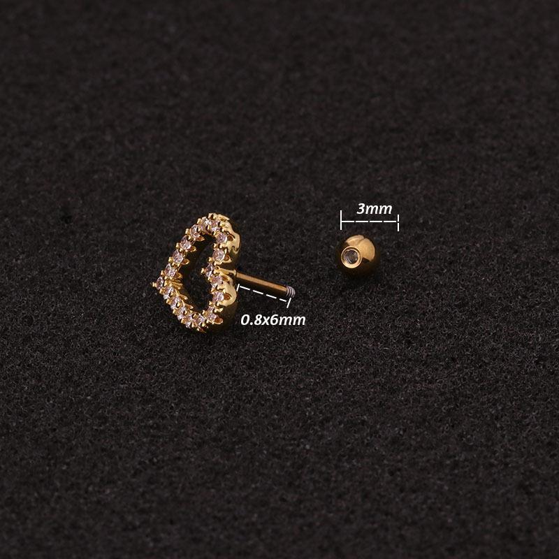 2020 Hot New Moon Flower Cz Ear Piercing Jewelry Steel Barbell