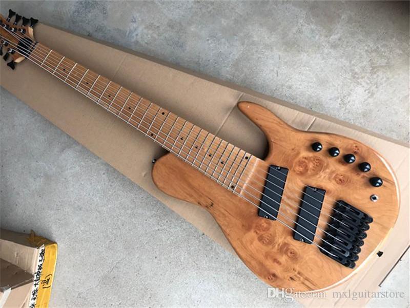 Yeni gelen! 7-Dizeler Eğimli Pikaplar ve Frets, Siyah Donanlar, Akçaağaç Klavarası, Özelleştirilmiş Teklif ile Elektro Gitar