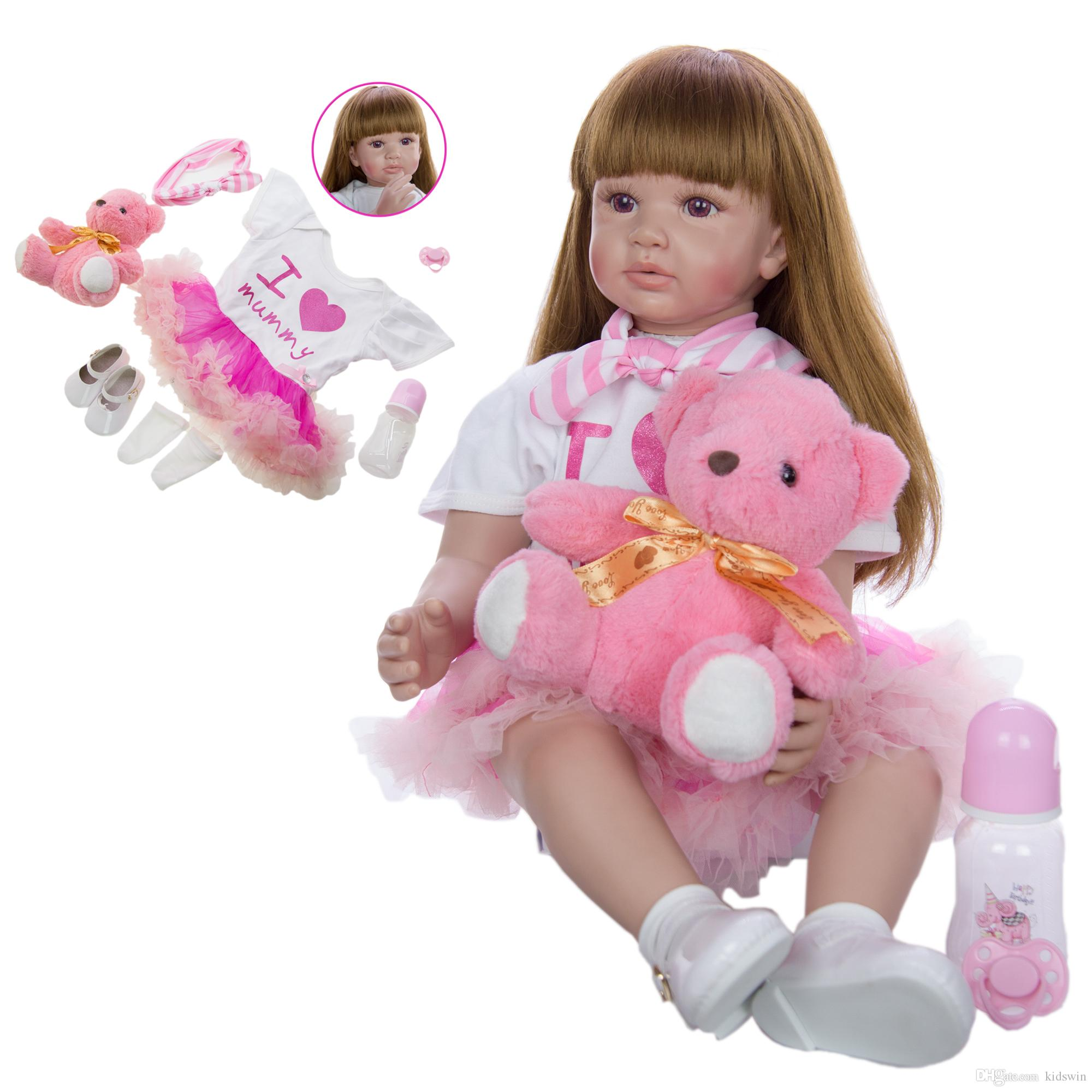 "2 Pieces 12/"" Vinyl Reborn Silicone Baby Doll Kids Sleeping Toy Bath Play Toy"
