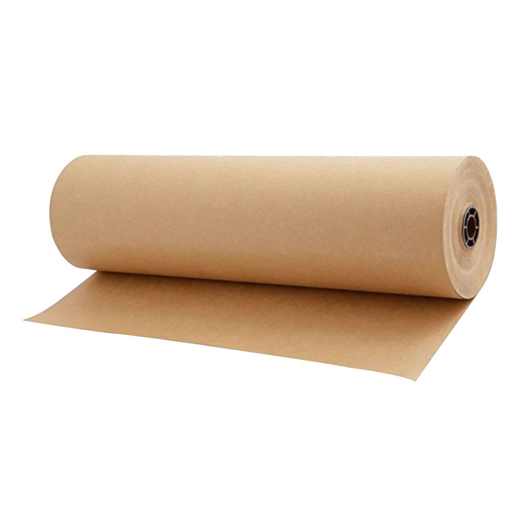 1 Roll of 30 Meters Kraft Wrapping Paper Roll - Wedding Birthday Party Gift Wrapping Arts and Crafts Parcel Packing, Free Shipping