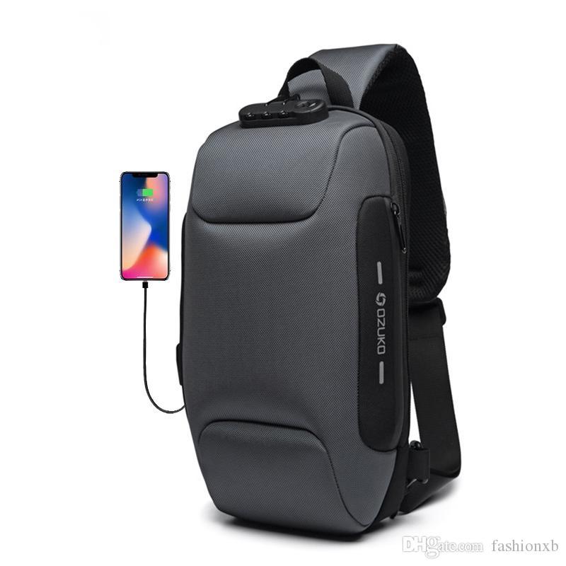 Новая мода дизайнер многофункциональный Crossbody мешок мочил для мужчин анти-кражи плеча сумки мужчины водонепроницаемый короткое путешествие груди мешок пакет