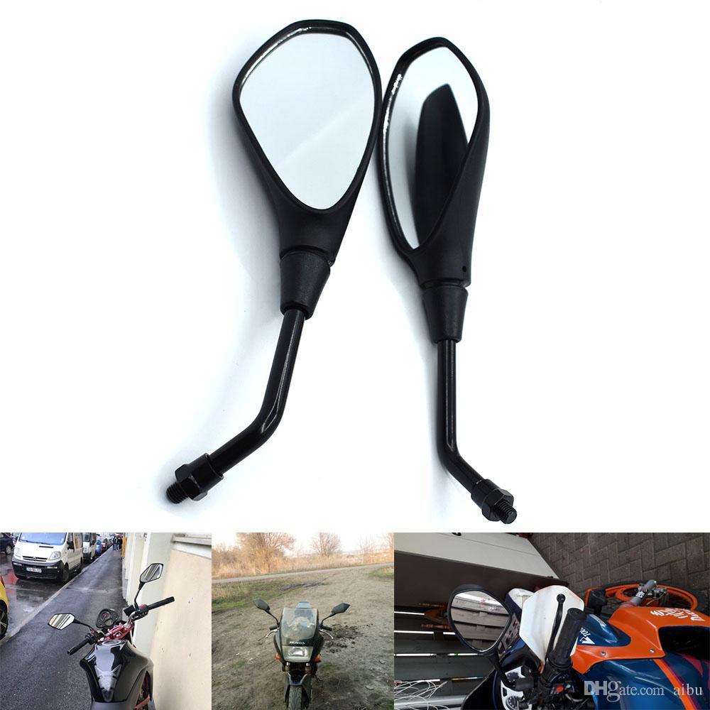 For Universal 10mm Motorcycle Rearview Mirror Left&Right Rear View Mirrors Housing Side Mirror For KTM Duke 125/200 Duke125 Duke200