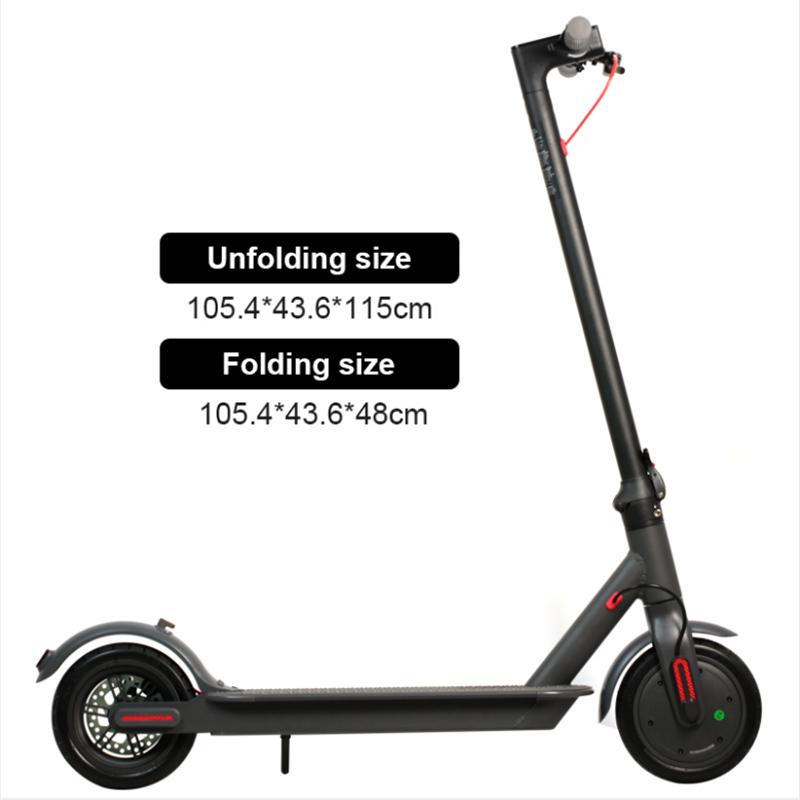 Almanya Depo 8.5 inç alüminyum alaşım hava lastiği elektrikli scooter 36V 250W güç 6.6Ah Hamur yetişkin Akıllı Scooter UPS Ücretsiz