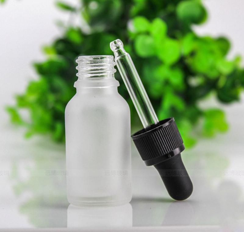 الجملة 15ML زجاج الأساسية عطر النفط زجاجة متجمد الزجاج القطارة زجاجة مع الأسود يفتحها الاطفال كاب لمستحضرات التجميل