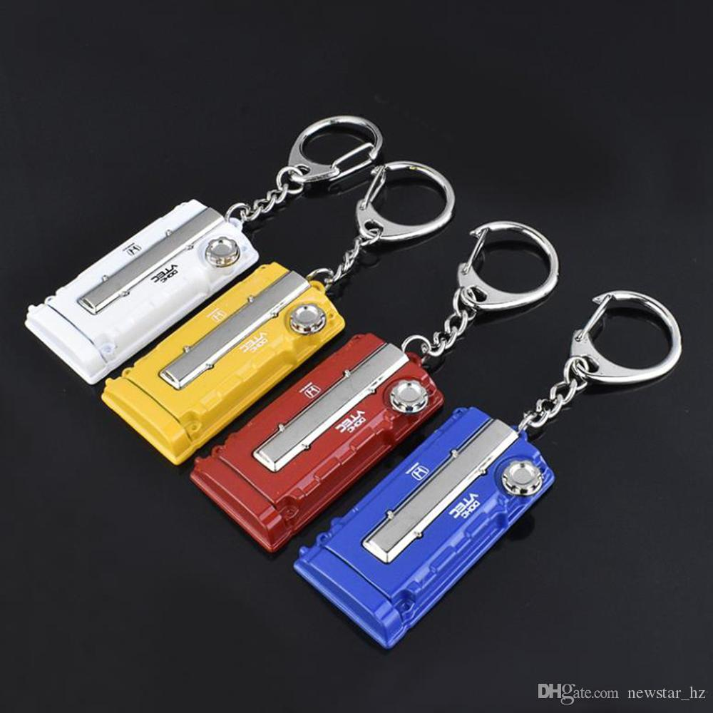 Car Engine Hood Shape Keychains Zinc Alloy Keyrings Keyfob Auto Parts Metal Key Chain Bag Decor Key Ring Keychain Gift