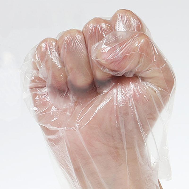 100pcs / set guanti monouso ecologici della cucina della casa barbecue Guanti multifunzione Cancella lavastoviglie Sanitari Catering plastica