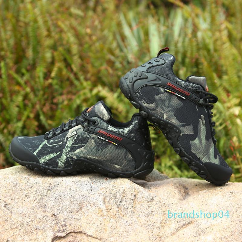 Sıcak Satış-Men Su geçirmez Yürüyüş Ayakkabı Güzel Antisilip Atletik Trekking Bot Kamuflaj Spor Tırmanış Ayakkabı Man Açık Yürüyüş Sneakers
