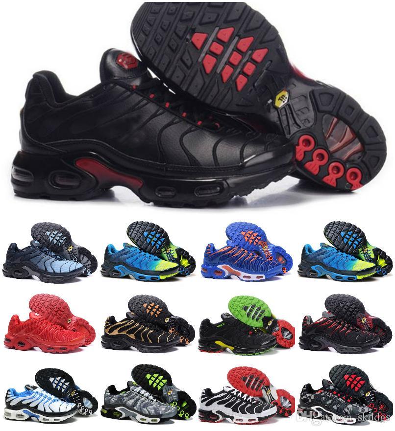 2019 Casual Shoes Original TN Plus Men Shoes For Cheap Tn Plus blanco Negro azul Diseñador Zapatillas deportivas de lujo Tn Requin Chaussures