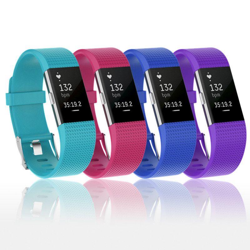 핏 비트 충전 2 스트랩 교체 팔찌 부드러운 실리콘 스포츠 밴드 Smartwatch를 손목 시계를 들어 핏 비트 충전이 스마트 팔찌의 경우
