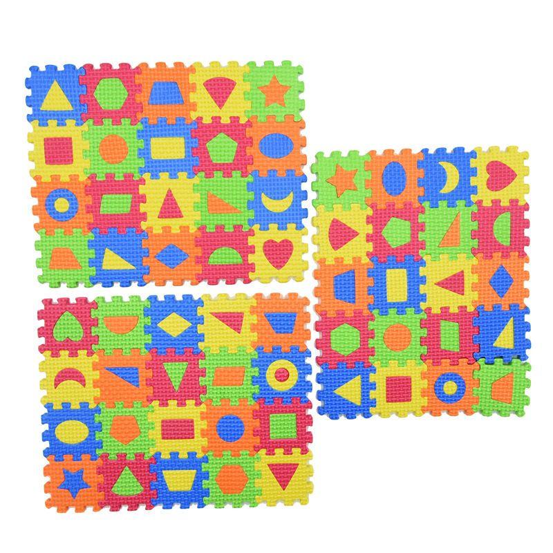 3D EVA Puzzles Diy Jeux d'enfants Baby Puzzle Mats 55 * 55MM ou 90mm * 90cm bébés Tapis éducation Mousse d'apprentissage Forme Jouet