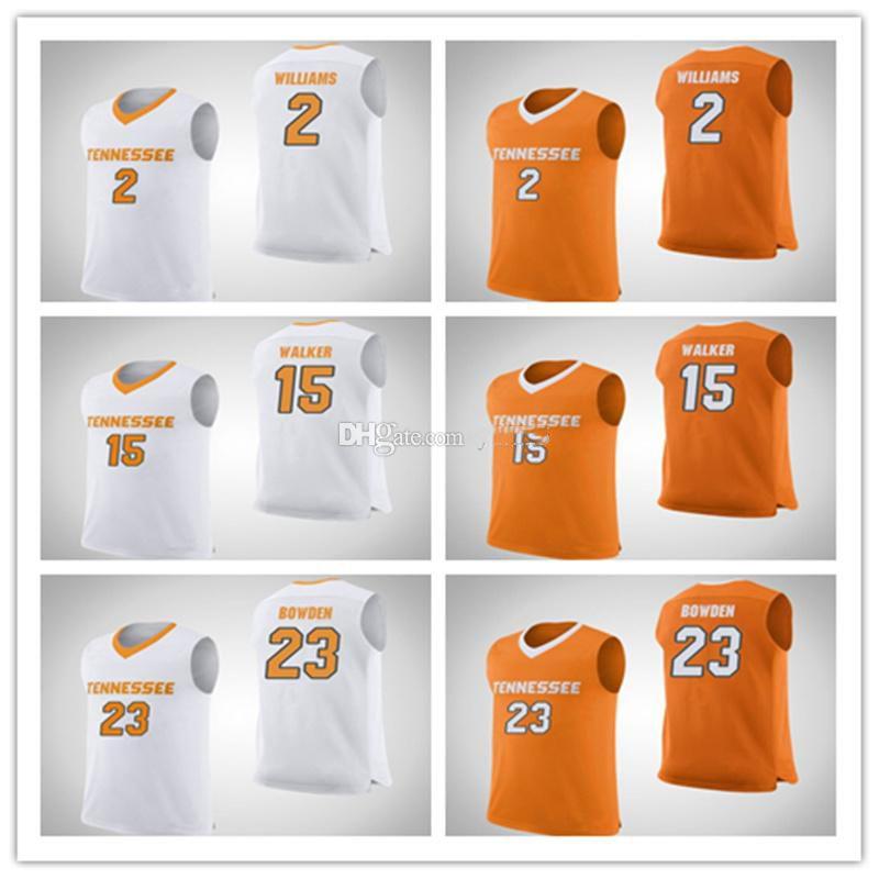 Tennessee добровольцы колледжа # 2 Грант Уильямс баскетбол Джерси # 15 Derrick Walker # 23 Bowden Mens сшитые пользовательские номера Имя