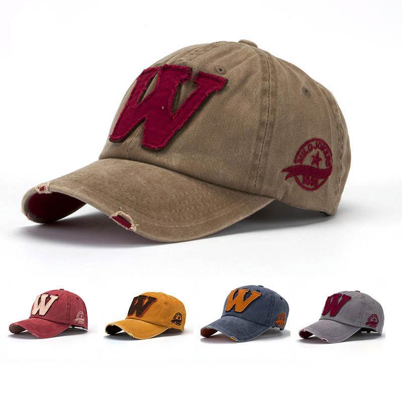 Letter W Snapback Cap Embroidery Vintage Baseball Hat for Women Men Adjustable Visor cap
