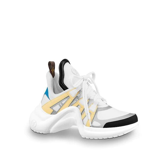 Nuovo arrivo Archlight Sneakers Chaussures Argento argento nero Monogram Lace Up Flat Trainer Sci-fi Sneakers con scatola originale