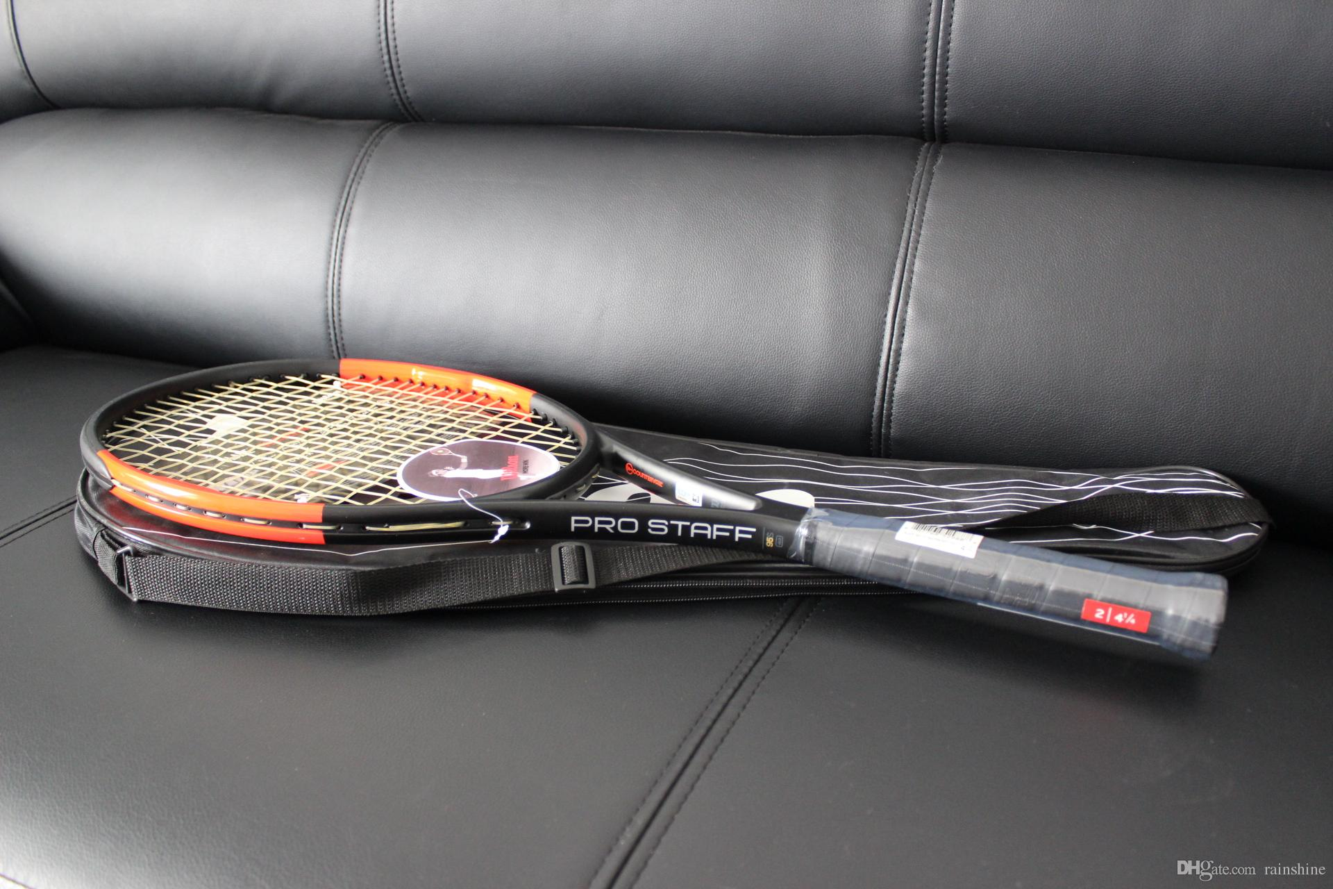 Wholesale top quality tennis rackets PRO STAFF 95S racquet with string and bag 1 piece racket free shipping