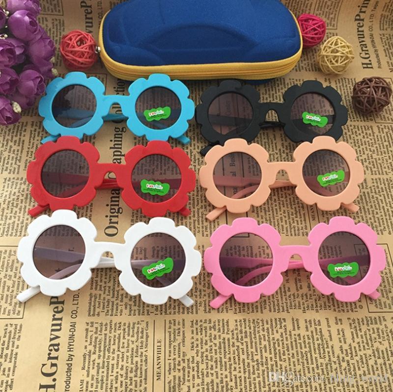 أطفال نظارات عباد الشمس الإطار الفتيات النظارات طفلة نظارات شمس الأطفال شاطئ نظارات أزياء أطفال اكسسوارات 6 ألوان YW3589